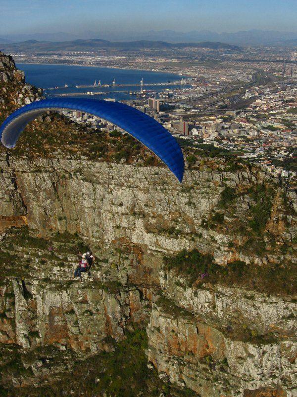 Tandem Paragliding off Lion's Head!