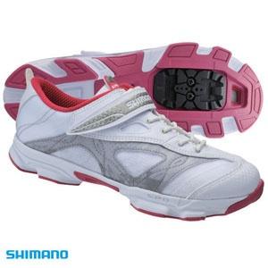 Materiales ligeros y súper ventilados para lograr el máximo rendimiento.    Zapatillas Shimano de ciclismo indoor (spinning) para mujer Sh-Sh51