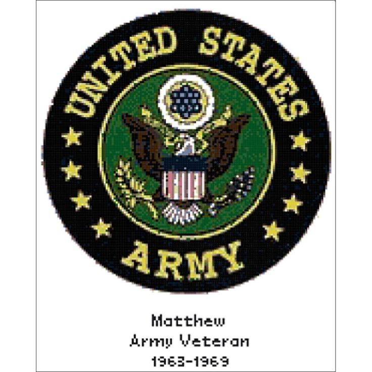 "U.S. Army Emblem Counted Cross Stitch Kit-10.25""x12.75"" 14 Count"