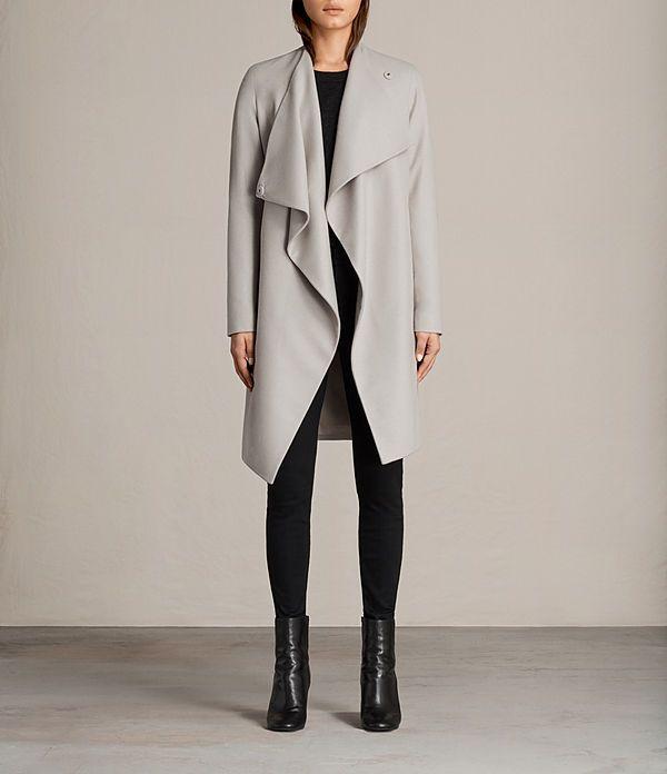 die besten 25 wollmantel damen grau ideen auf pinterest langer wollmantel damen cardigan. Black Bedroom Furniture Sets. Home Design Ideas