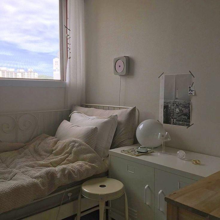 Korean Bedroom Aesthetic Room Decor Seoul Beige Coffee