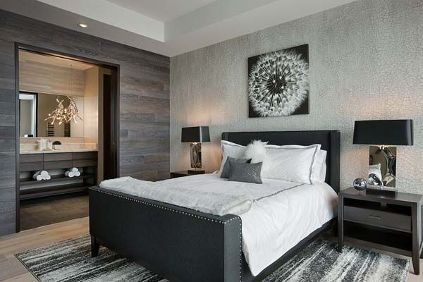 Just....yes.  Our bedroom, Except wood effect wall in black spun wallpaper. Need two big black lamps and wall art