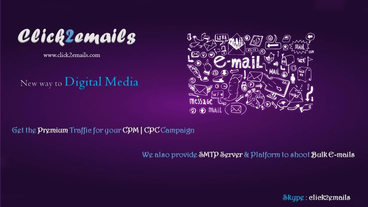 The PREMIUM Email Traffic for CPM | CPC Campaign... Connect us website chat @ www.click2emails.com Or Skype us :- click2emails #bulkemailSMTPserver #SMTPemailserviceproviders #emailmarketing #emailmarketing #affiliate #affiliatemarketing #cpm #cpc #uk #publisher #ukpublisher #inboxing #advertiser #business #technology #emailserver #bulkemail #cpm #cpc #onlinemarketing #onlineadvertising