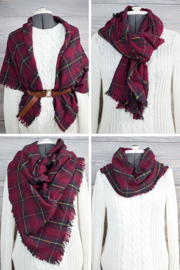 Diy Plaid Flannel Blanket Scarf Tutorial Scarf Tutorial Diy