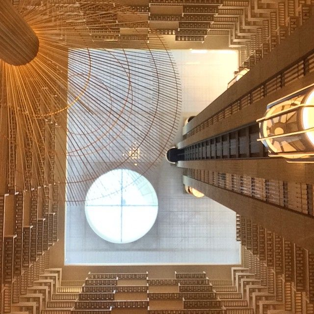 @hyattatlanta's Revolutionary 22-story atrium design for the hotel has influenced hotel design enormously in the years since. Photo courtesy of Adam Wright Strayer.