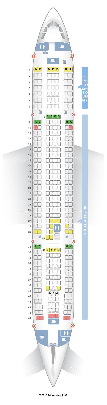 SeatGuru Seat Map Thomas Cook Airlines Airbus A330-200 (332) V1
