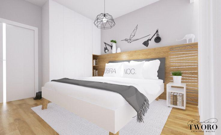 Sypialnia nowoczesna skandynawska
