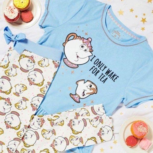 Primark Ladies DISNEY MRS POTTS CHIP Pyjamas Womens Pajamas