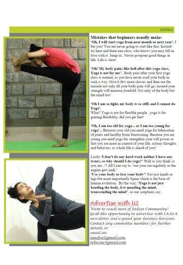 Yoga article By Yogacharini Komal IAASA , Adelaide SA