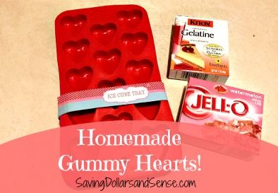 Homemade Gummy Hearts - substitute natural jello w/out artificial coloring