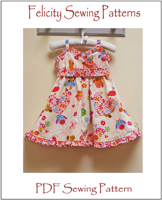 Little Cup Cake girl's dress pattern by Felicity Sewing Patterns, girl's pdf dress pattern sizes 1 - 10 years, children's sewing pattern on Etsy, $8.50