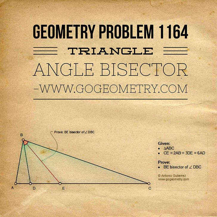 Artwork of Problem 1164, Triangle, Angle Bisector, iPad Apps, Typography