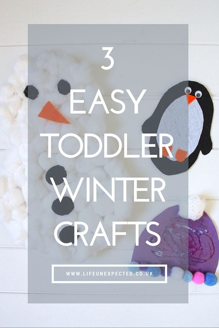 3 Easy Toddler Winter Crafts