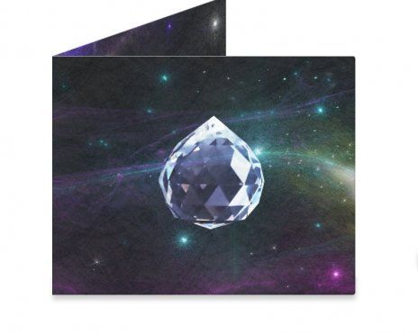 Crystal Universe The time and space between us refract through our lives and make us rich. #mightywallet #wallet #space #universe #stars #crystal #healing #abundance #prosperity #giftideas #outerspace #ufo #energy