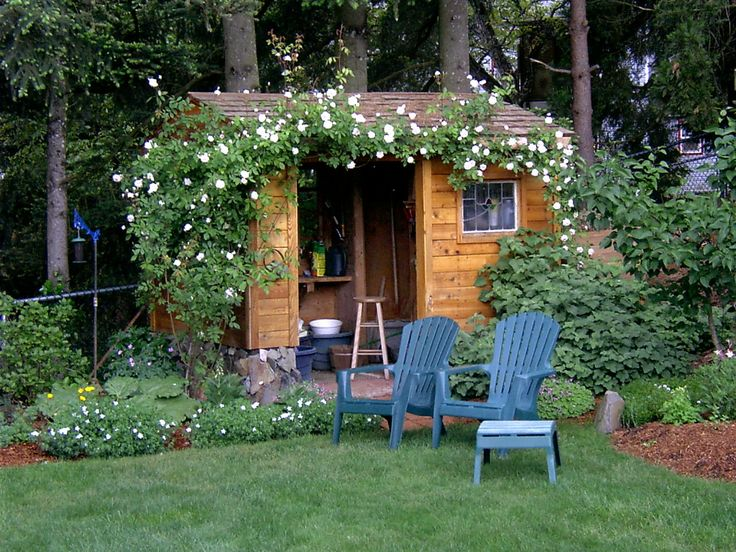 The Farmhouse Porch: Dream Backyard Cottages: Garden Shed