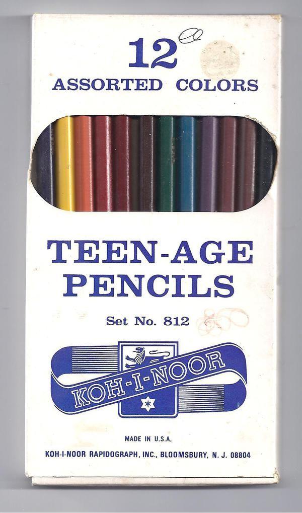 The Museum of Forgotten Art Supplies: Teen Ag Pencil, Vintage Pencil, Vintage Packaging, Age Pencil Random, Colors Pencil, Teenage Pencil, Vintage Ads, Forgotten Art, Art Supplies