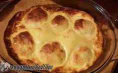 Sütőben sült túrógombóc édes tejföllel recept fotóval