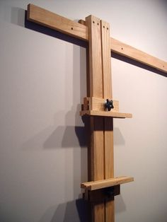 Close Up of Wall Easel Mast | #DIY Space Saver