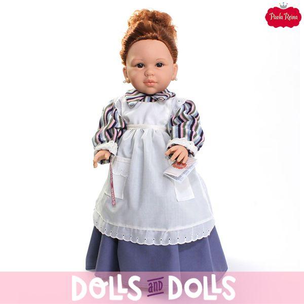 #Doloretes, la tendera más famosa y alocada de la televisión está disponible con cuatro vestidos distintos, granate, azul, blanco/marrón y blanco, ¿a qué está espectacular con cualquiera de ellos? Su peinado, sus pendientes de perlas, su delantal y un agradable olor a vainilla completan su conjunto. 🌞 Añade un poco de alegría a cualquier lugar de tu casa con esta bonita #muñeca. 🌞 #Dolls #PaolaReina #Doloretes #ElSecretoDePuenteViejo #MaribelRipoll #PuenteViejo #IlSegreto #DollsMadeInSpain