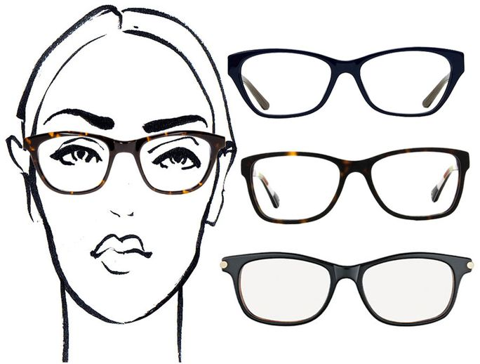 Eyeglass Frame Shapes For Oval Faces : 25 best images about Glasses - other ideas on Pinterest ...