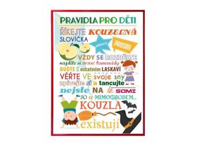Plakát - Pravidla pro děti s obrázky - česká verze