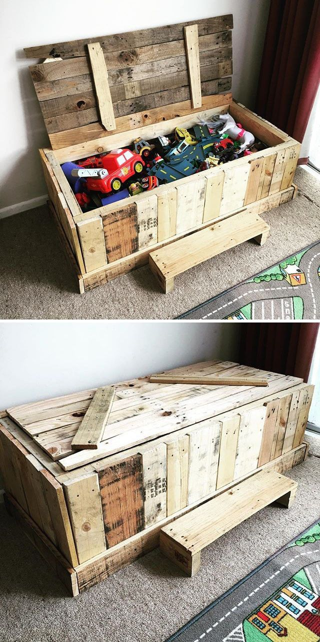 Small Size Recycled Wood Pallet Projects Ideas Sensod Create Connect Brand Diy Toy Storage Wood Pallet Projects Pallet Toy Boxes