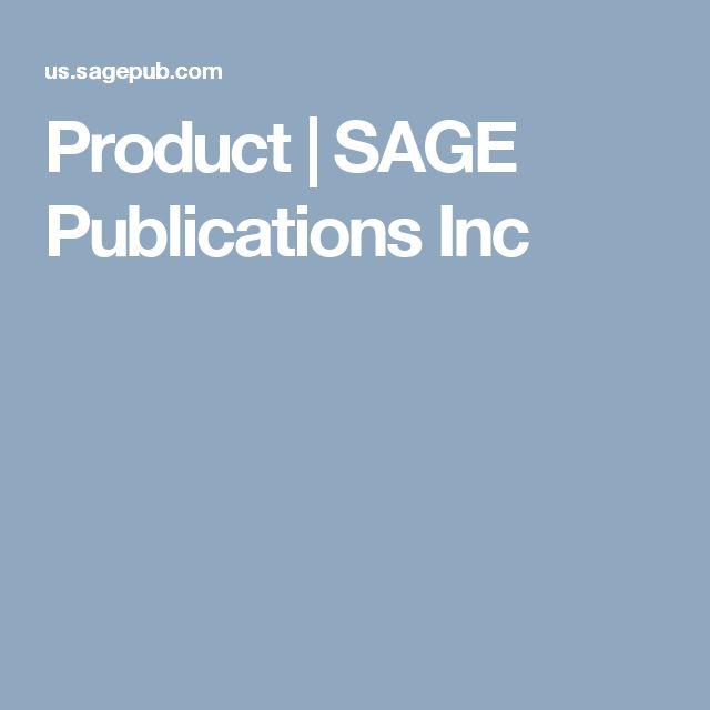 Product   SAGE Publications Inc