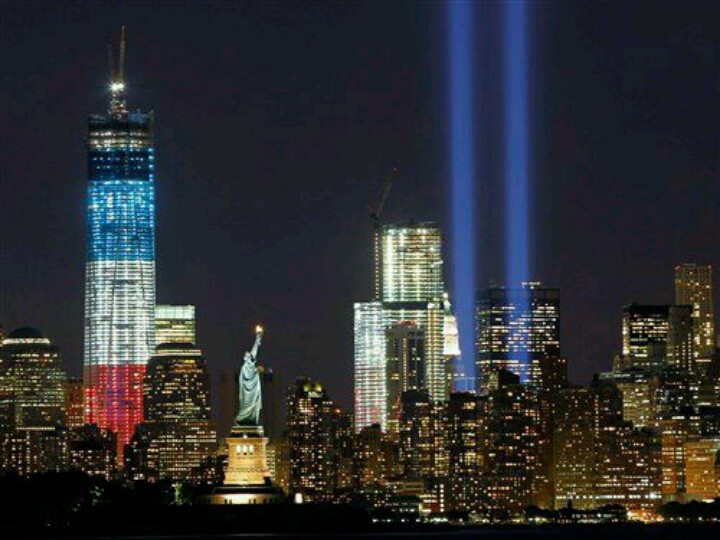 Best Remember Images On Pinterest Never Forget - Two beams light new yorks skyline beautiful tribute 911