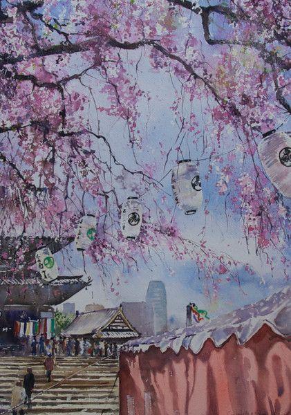 Gabrielle Moulding - Festival at Zojoji Temple