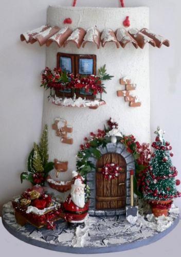Telhas decoradas.