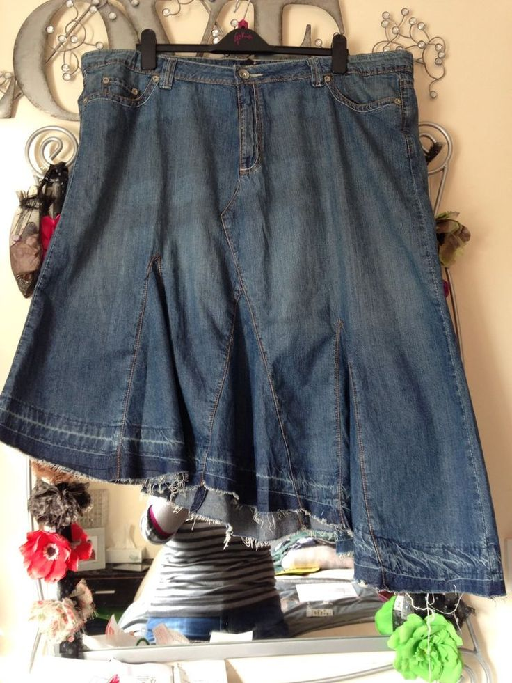 BNWOT AMELIE MAY ASYMMETRIC RAW HEM MID BLUE DENIM LAGENLOOK SKIRT SIZE 24 in Clothes, Shoes & Accessories | eBay