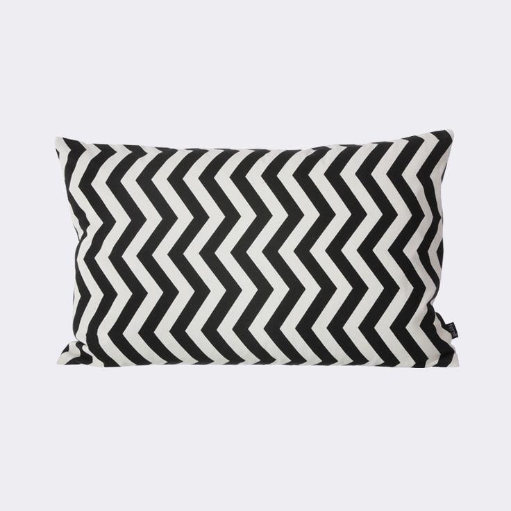 Black ZigZag Cushion