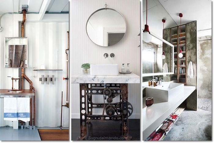 17 best ideas about industrial chic bathrooms on pinterest - Bagno stile industriale ...