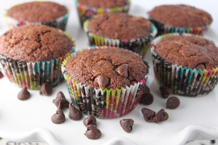 Amish Friendship Bread double choc chip muffins