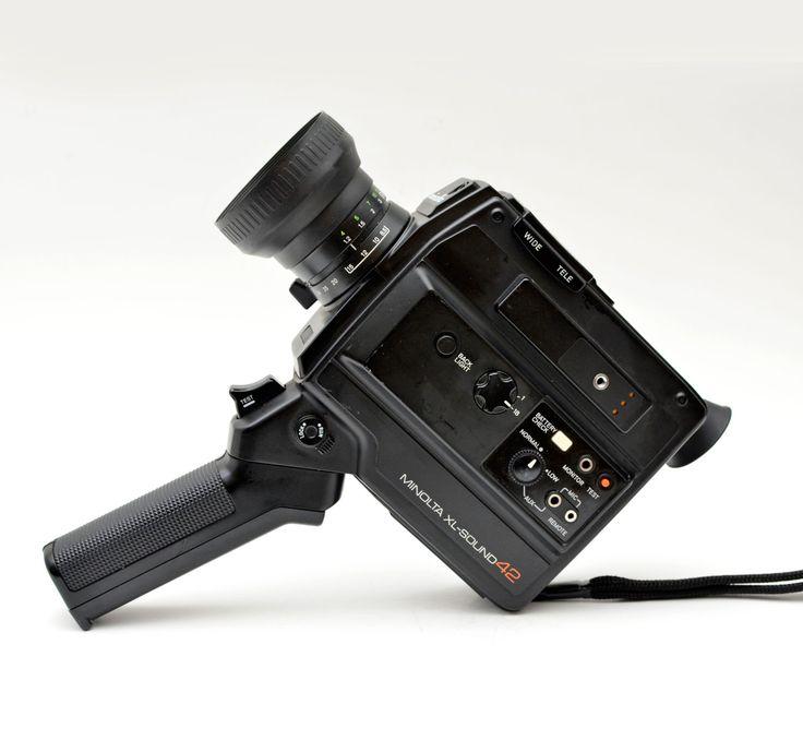 Minolta XL-Sound 42 Super 8 Film Video Camera 1980s by vtgwoo on Etsy