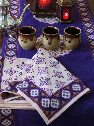 Marvelous Sultans Palace ~ Moroccan Vintage Print Fancy Dinner Napkins