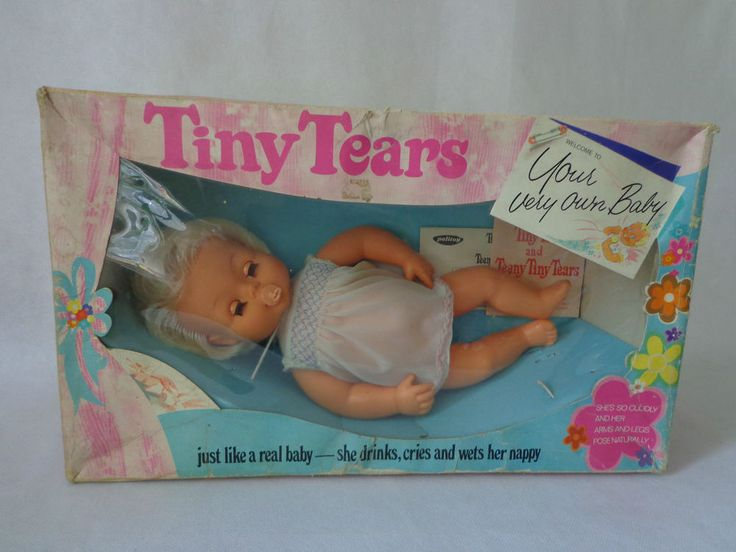 Vintage Tiny Tears Palitoy Doll 3/4 Eye 1970 s 1980 s 16  Dummy Dress Rare Box