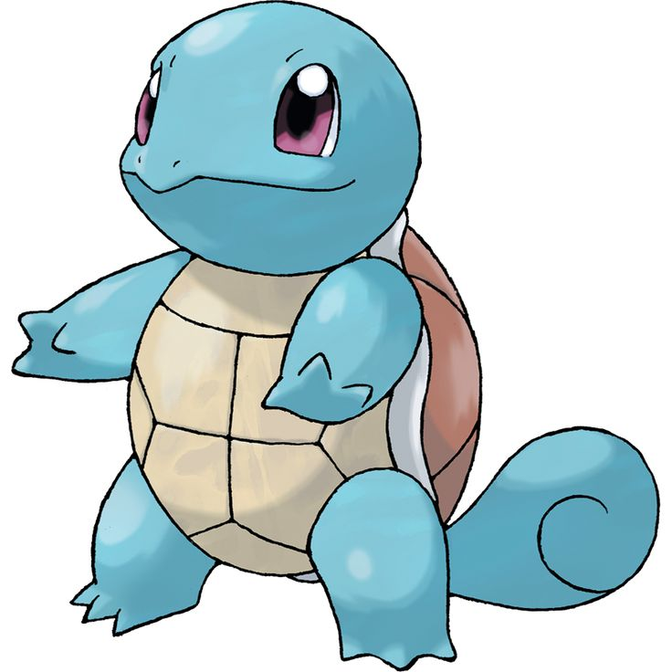 Squirtle - 007 - It shelters itself in its shell, then strikes back with spouts of water at every opportunity. Shoots water at prey while in the water. Withdraws into its shell when in danger.  @PokeMasters.net