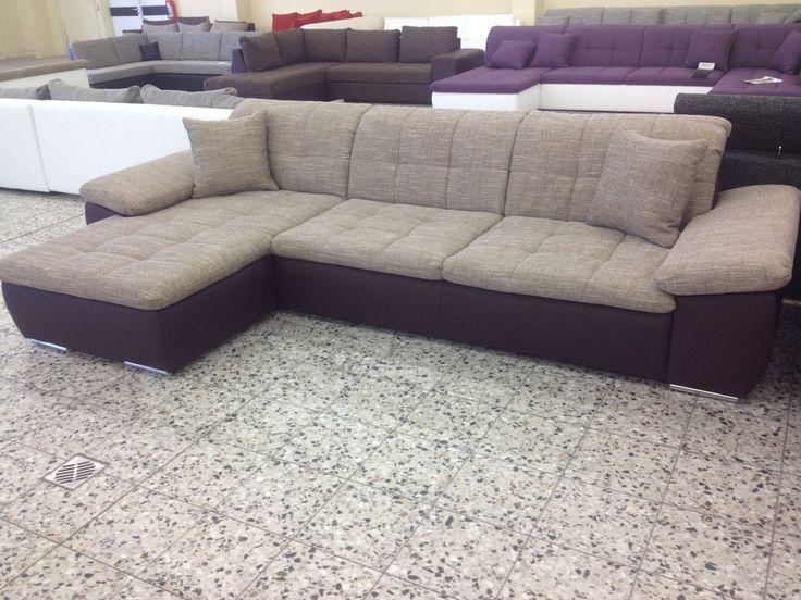 Best NEU ECKCOUCH Sofa COuch Wohnlandschaft Leder IMITAT STRUKTUR polsterECKe BR BR