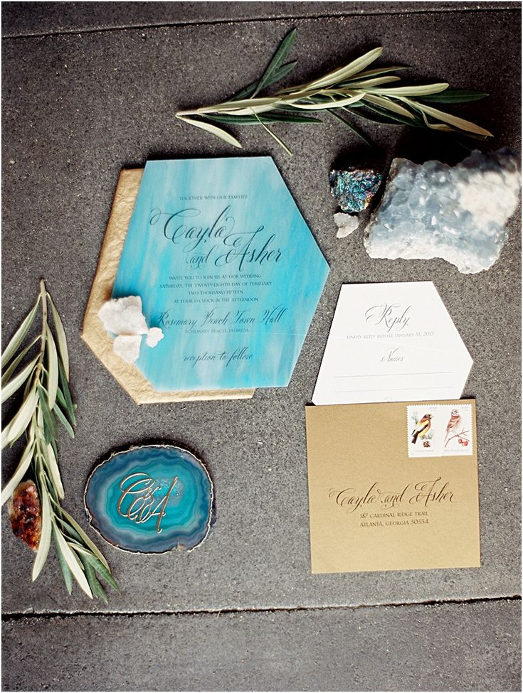 fast shipping wedding invitations%0A Geode Wedding  In The Press