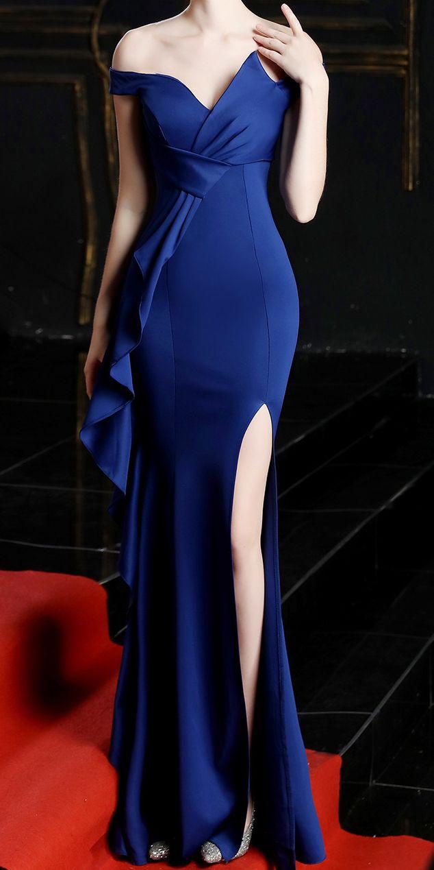 Navy Blue Prom Dress Maxi Dress Bridesmaid Dress Long Dress Navy Blue Evening Dress Party Dress Blue Open Back Dress Evening Dress
