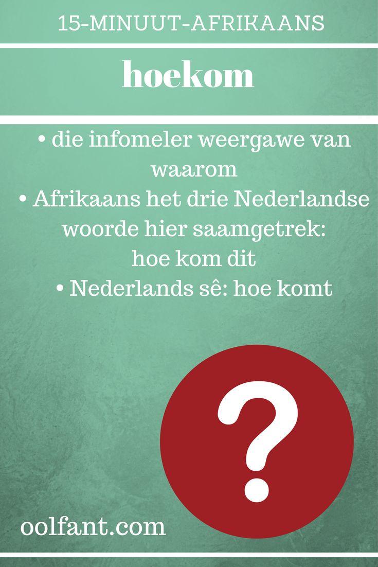 Leer Afrikaans, tuisskool, tuisskool in Afrikaans, 15-Minuut-Afrikaans, aanlynkursus