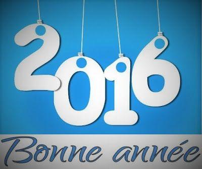 Image et carte de vœux bonne année + le nouvel an 2016