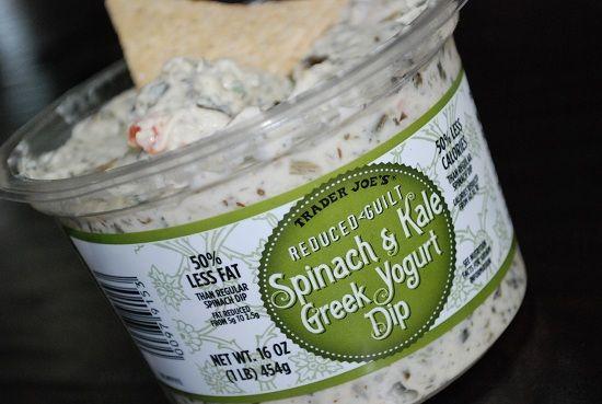 Reduced Guilt Spinach & Kale Greek Yogurt Dip from Trader Joe's.  Don't walk...run and buy this stuff!!!