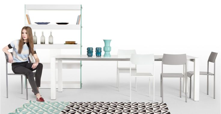 Bramante Extending Dining Table in white £499 | made.com