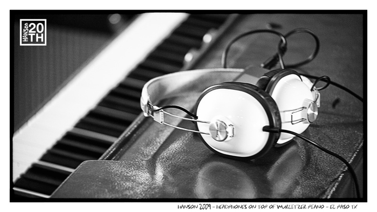 Photo 105 of 365  HANSON 2009 - Headphones on top of Wurlitzer Piano - El Paso TX	    This is a simple picture of two invaluable items - a great set of headphones and a vintage instrument. What items of yours do you consider invaluable (not including people or animals)?    #Hanson #Hanson20th