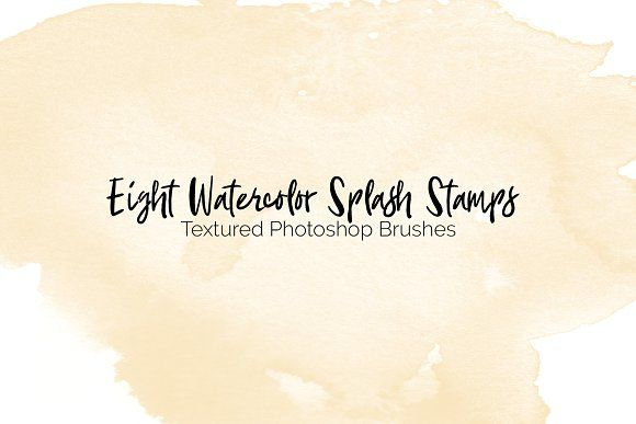 Eight Watercolor Texture Brushes Watercolor Texture Photoshop