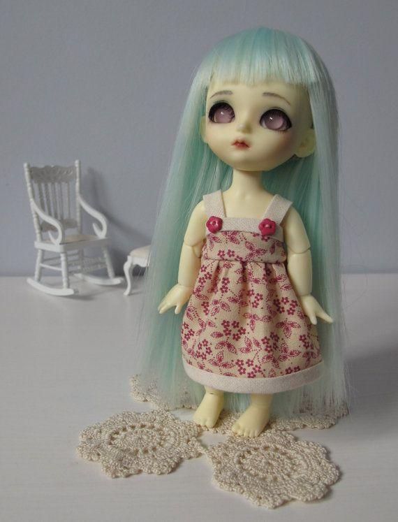 Dress for Lati Yellow Pukifee pink flowers cute by EveryDollsDream