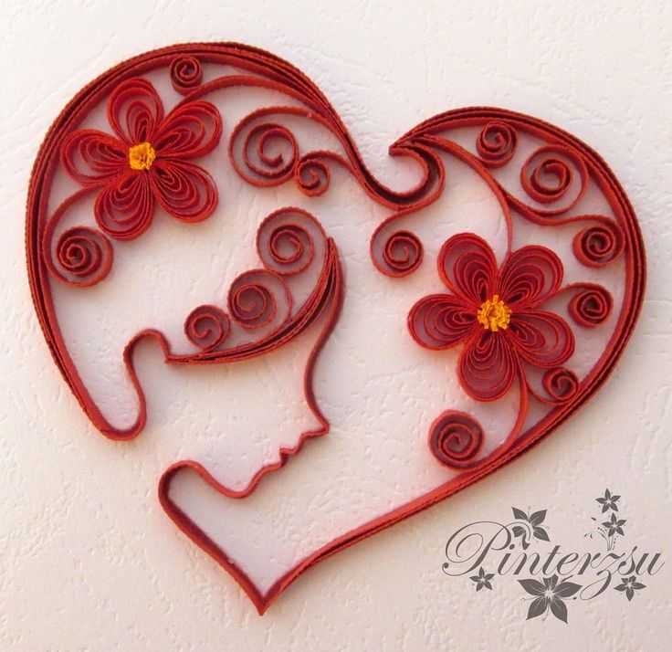 367 best Quilling Hearts images on Pinterest  Quilling Paper