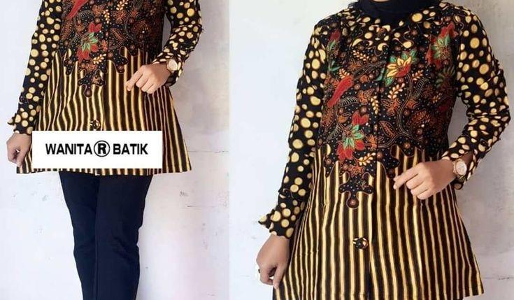 Inspirasi Populer 16 Model Baju Batik Atasan Terbaru 2021 Model Pakaian Baju Atasan Wanita Gaun Lengan Panjang